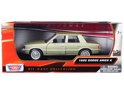 1982 Dodge Aries K Champagne / Gold 1/24 Diecast Model Car by Motormax