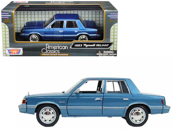 1983 Plymouth Reliant Blue 1/24 Diecast Model Car by Motormax