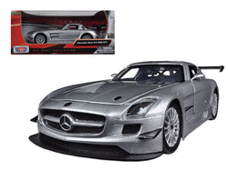 Mercedes SLS AMG GT3 Silver 1/24 Diecast Model Car by Motormax