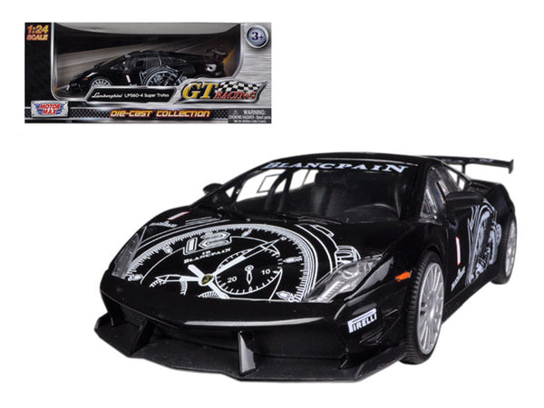 "Lamborghini Gallardo LP560-4 Black Super Trofeo ""GT Racing"" 1/24 Diecast Model Car by Motormax"