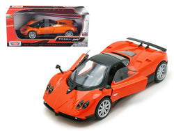 Pagani Zonda F Orange 1/24 Diecast Model Car by Motormax