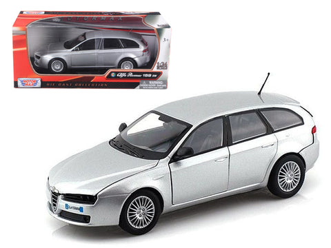 Alfa Romeo 159 SW Silver 1/24 Diecast Model Car by Motormax