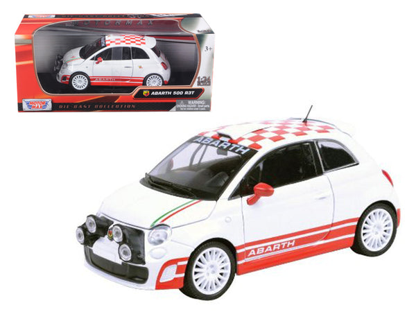 Fiat Abarth 500 R3T White 1/24 Diecast Model Car by Motormax