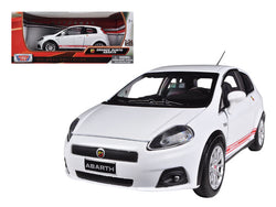Fiat Grande Punto Abarth White 1/24 Diecast Model Car by Motormax