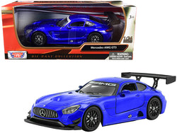 Mercedes AMG GT3 Bright Blue 1/24 Diecast Model Car by Motormax
