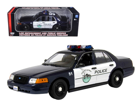 Ford Crown Victoria Lynden WA Police Car 1/18 Diecast Model Car by Motormax