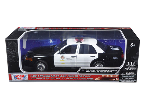 2001 Ford Crown Victoria Los Angeles Police Department (LAPD) Car 1/18 Diecast Car Model by Motormax