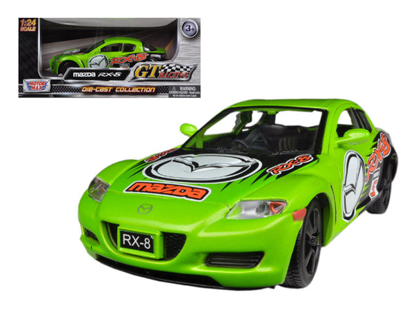 Mazda RX-8 Green #5 GT Racing 1/24 Diecast Model Car by Motormax