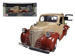 1941 Plymouth Tow Truck Brown 1/24 Diecast Model by Motormax