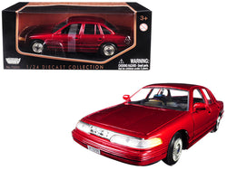 1998 Ford Crown Victoria Metallic Red 1/24 Diecast Model Car by Motormax