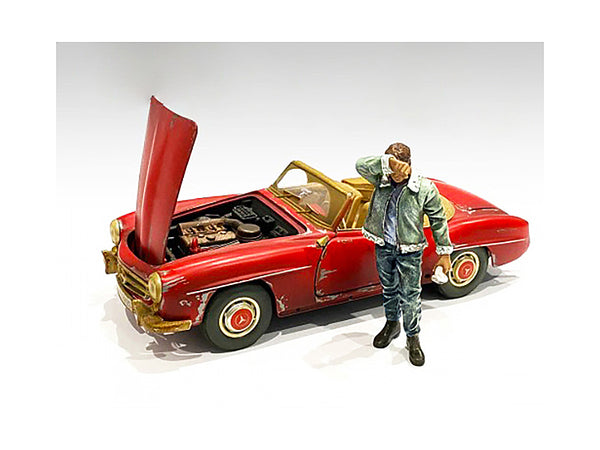 """Auto Mechanic"" Sweating Joe Figure for 1/24 Scale Models by American Diorama"