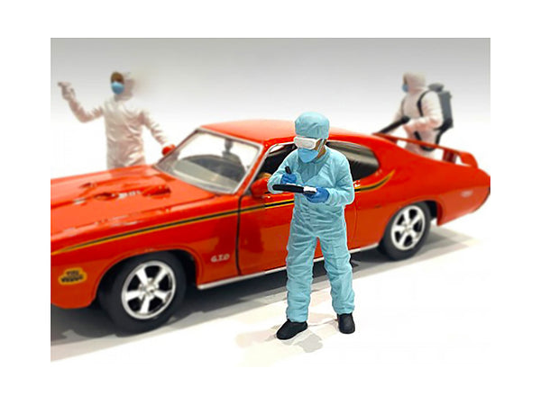 """Hazmat Crew"" Figure #4 for 1/24 Scale Models by American Diorama"
