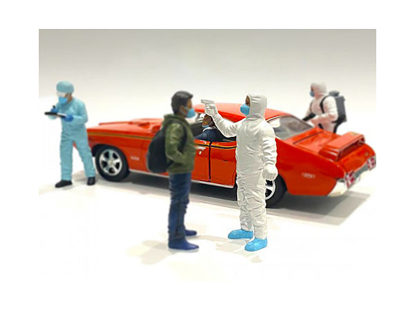 """Hazmat Crew"" Figure #6 for 1/24 Scale Models by American Diorama"