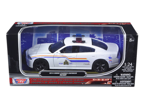 Dodge Charger RCMP Enforcer Car 1/24 Scale Diecast Model Car by Motormax