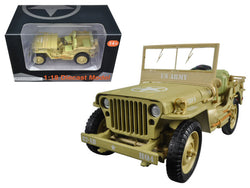 US Army WWII Jeep Vehicle Desert Color 1/18 Diecast Model by American Diorama