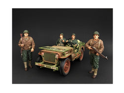US Army WWII 4 Piece Figure Set For 1:18 Diecast Models by American Diorama