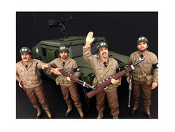 "WWII ""MP"" 4 Piece Figure Set For 1:18 Diecast Models by American Diorama"