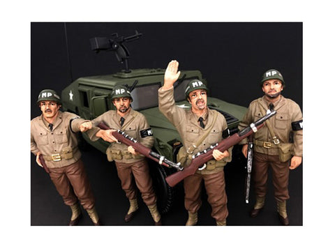 "WWII ""MP"" (4 Piece Figure Set) For 1:18 Diecast Models by American Diorama"