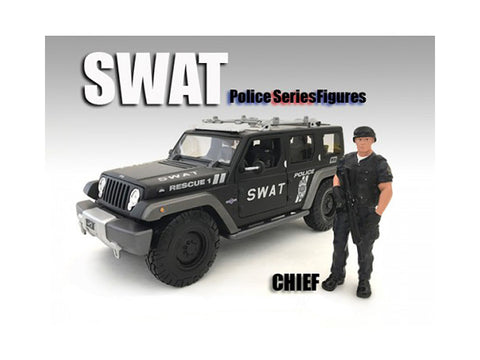 SWAT Team Chief Figure For 1:18 Diecast Models by American Diorama