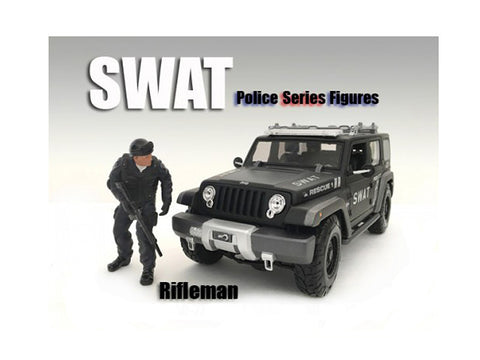 SWAT Team Rifleman Figure For 1:18 Diecast Models by American Diorama