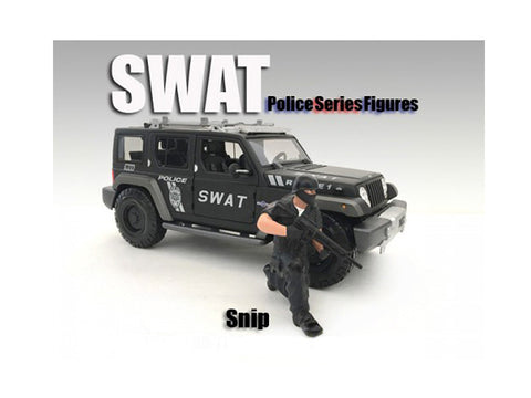 SWAT Team Sniper Figure For 1:18 Diecast Models by American Diorama