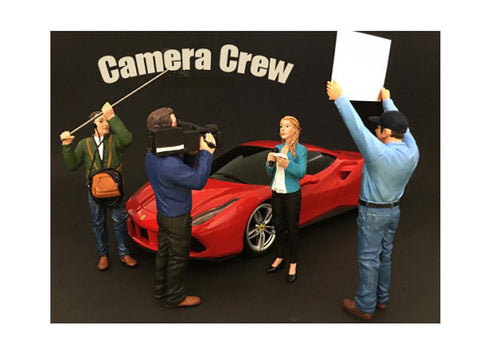 """Camera Crew"" (4 Piece Figure Set) For 1:18 Scale Diecast Models by American Diorama"
