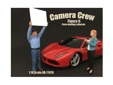 """Camera Crew"" Figure #2 ""Crewman Holding Reflector"" For 1:18 Scale Diecast Models by American Diorama"