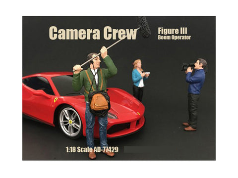 """Camera Crew"" Figure #3 ""Boom Operator"" For 1:18 Scale Diecast Models by American Diorama"