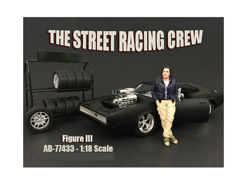 The Street Racing Crew Figure III For 1:18 Diecast Models by American Diorama