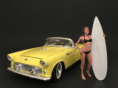 Surfer Casey Figure For 1:18 Diecast Models by American Diorama