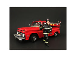 Firefighter with Axe Figure For 1:18 Diecast Models by American Diorama