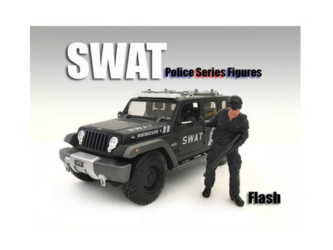 SWAT Team Flash Figure For 1:24 Scale Diecast Models by American Diorama