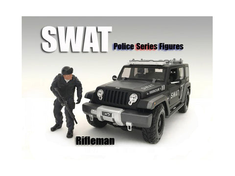 SWAT Team Rifleman Figure For 1:24 Scale Diecast Models by American Diorama