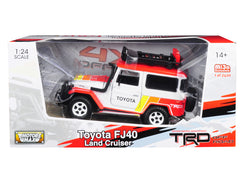 Toyota FJ40 Land Cruiser TRD White Limited Edition to 2,400 pieces Worldwide 1/24 Diecast Model by Motormax