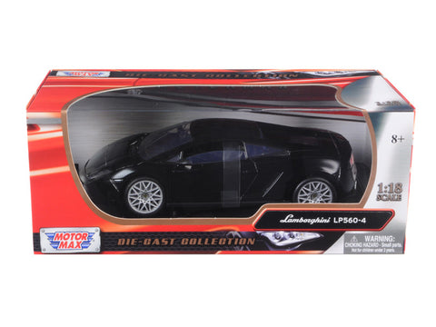 Lamborghini LP 560-4 Black 1/18 Diecast Model Car by Motormax
