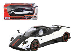Pagani Zonda 5 Cinque White/Black 1/18 Diecast Model Car by Motormax
