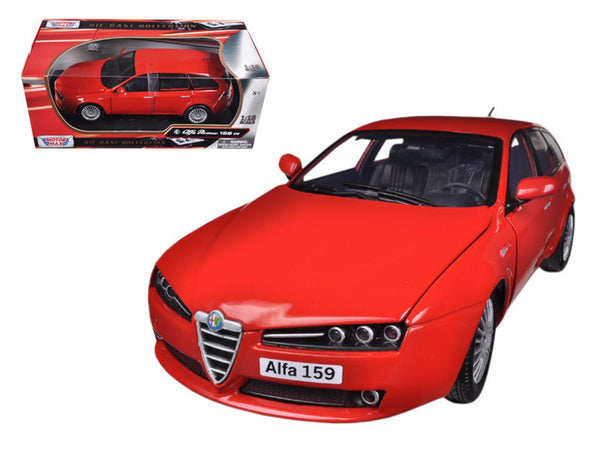 Alfa 159 SW Red 1/18 Diecast Model Car by Motormax