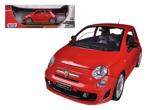 Fiat 500 Abarth Red 1/18 Diecast Model Car by Motormax