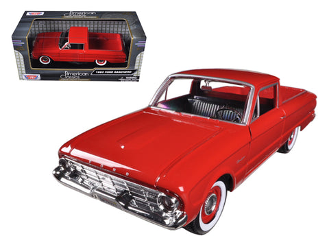 1960 Ford Falcon Ranchero Pickup Red 1/24 Diecast Model by Motormax