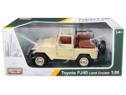 Toyota Land Cruiser FJ40 Convertible Beige 1/24 Diecast Model by Motormax