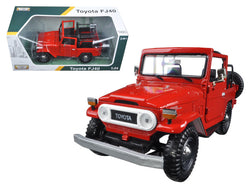 Toyota FJ40 Convertible Red 1/24 Diecast Model Car by Motormax