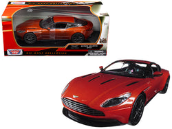 Aston Martin DB11 Copper Orange 1/24 Diecast Model Car by Motormax
