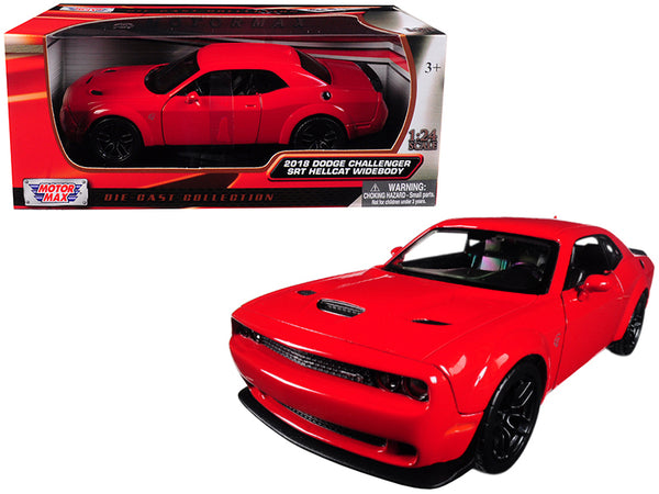 2018 Dodge Challenger SRT Hellcat Widebody Red 1/24 Diecast Model Car by Motormax