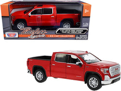 2019 GMC Sierra 1500 SLT Crew Cab Pickup Truck Red 1/24-1/27 Diecast Model by Motormax