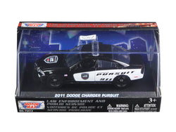 2011 Dodge Charger Pursuit Police Car In Display Showcase 1/43 Diecast Model Car by Motormax