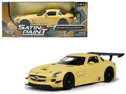 Mercedes Benz SLS AMG GT3 Matte Yellow 1/24 Diecast Model Car by Motormax