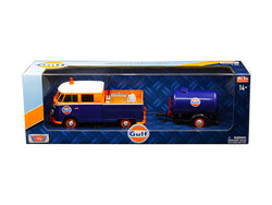 "Volkswagen Service Pickup Truck with Plastic Oil Tank ""Gulf Oil"" 1/24 Diecast Model Car by Motormax"
