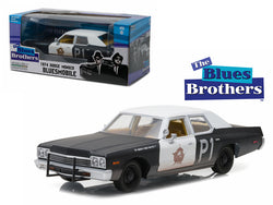 "1974 Dodge Monaco Bluesmobile ""The Blues Brothers"" Movie 1/24 Diecast Model Car by Greenlight"