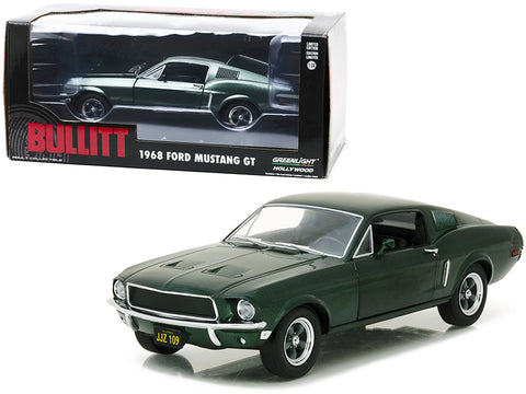 "1968 Ford Mustang GT Fastback Green from ""Bullitt"" Movie 1/24 Diecast Model Car by Greenlight"