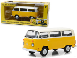 "1978 Volkswagen Type 2 (T2) Bus Yellow with White Top ""Little Miss Sunshine"" (2006) Movie 1/24 Diecast Model by Greenlight"